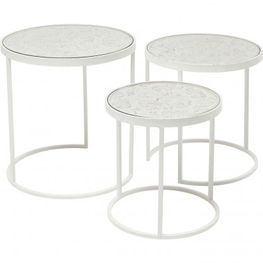 Tables d'appoint Sweet Home set de 3 Kare Design