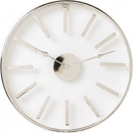 Horloge murale Artist chromée 46cm Kare Design