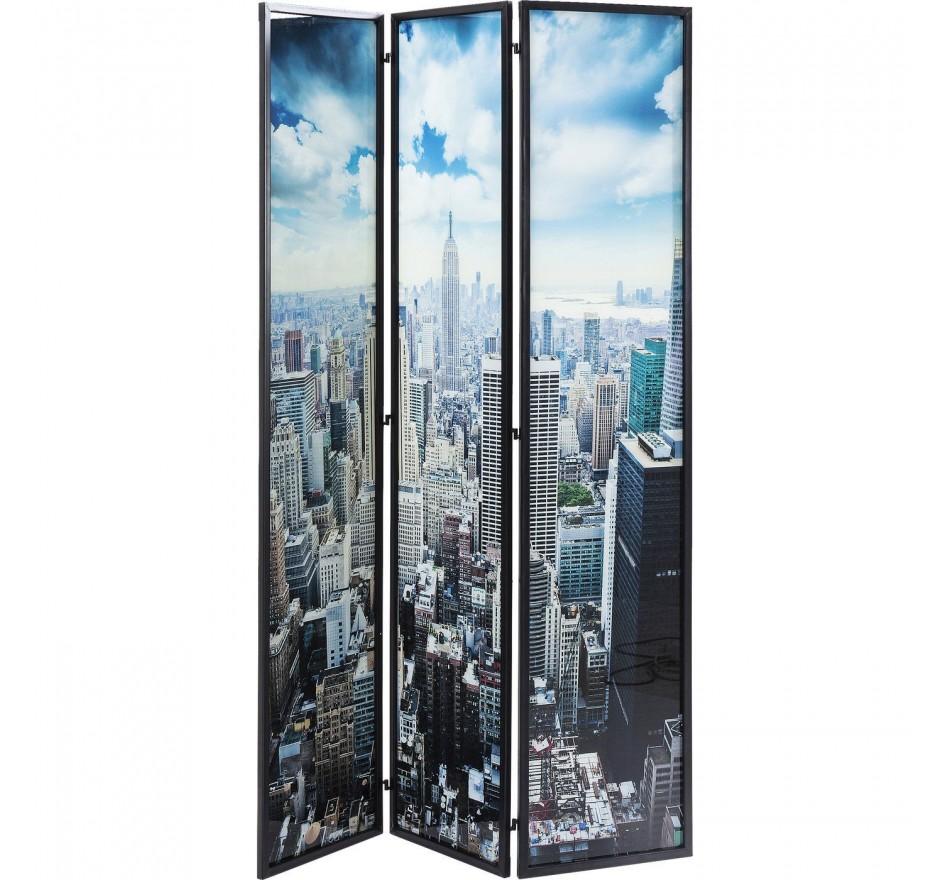Paravent verre NY Skyline Kare Design