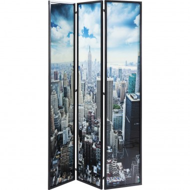 Paravent en verre New York Skyline Kare Design