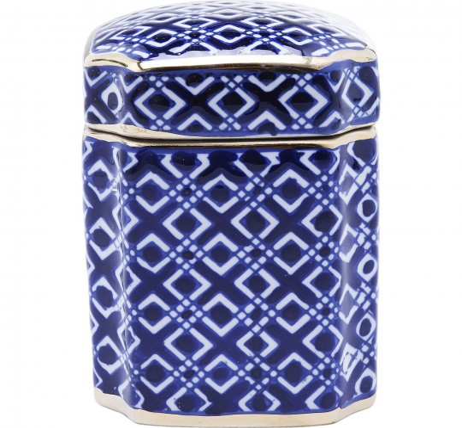 Boîte Mosaico bleue 16cm Kare Design