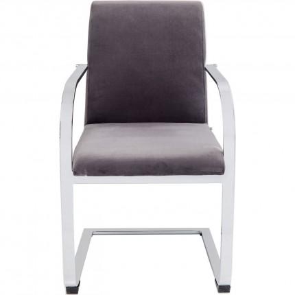Chaise Cantilever Candodo velours grise Kare Design