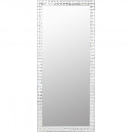 Miroir Crystals Steel blanc 180x80cm Kare Design