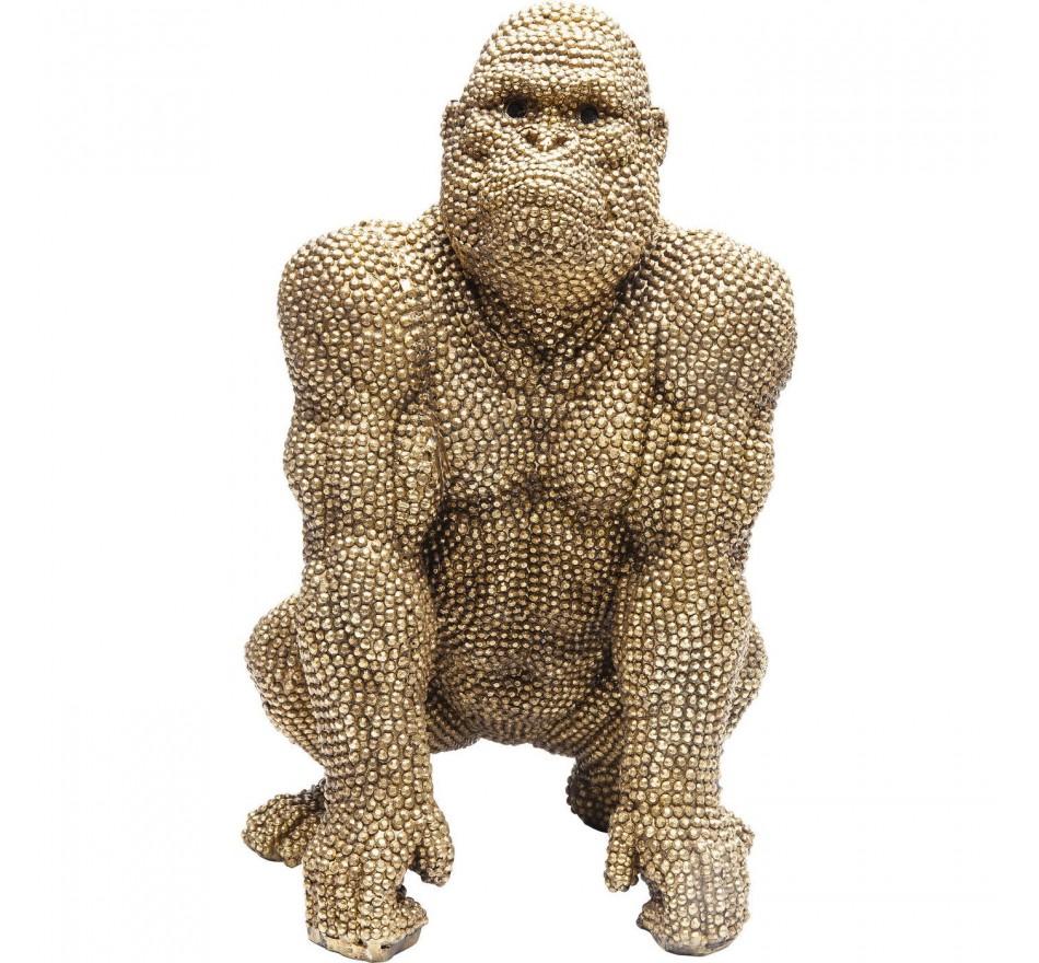 Déco gorilla strass dorés 46cm Kare Design
