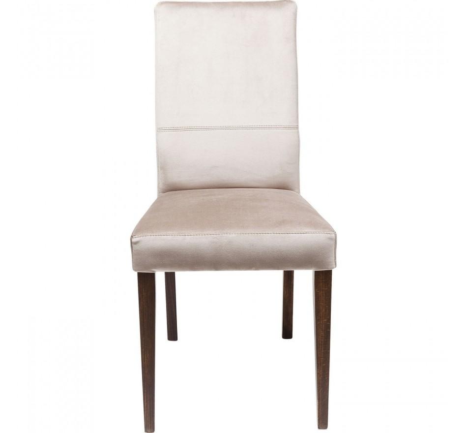 Chaise Mara velours gris argenté Kare Design