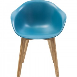 Chaise avec accoudoirs Forum Scandi Object bleu Kare Design