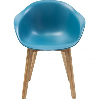 Chaise avec accoudoirs Forum Scandi bleu mat Kare Design