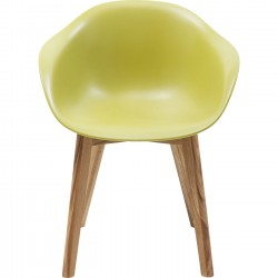 Chaise avec accoudoirs Forum Scandi Object vert Kare Design