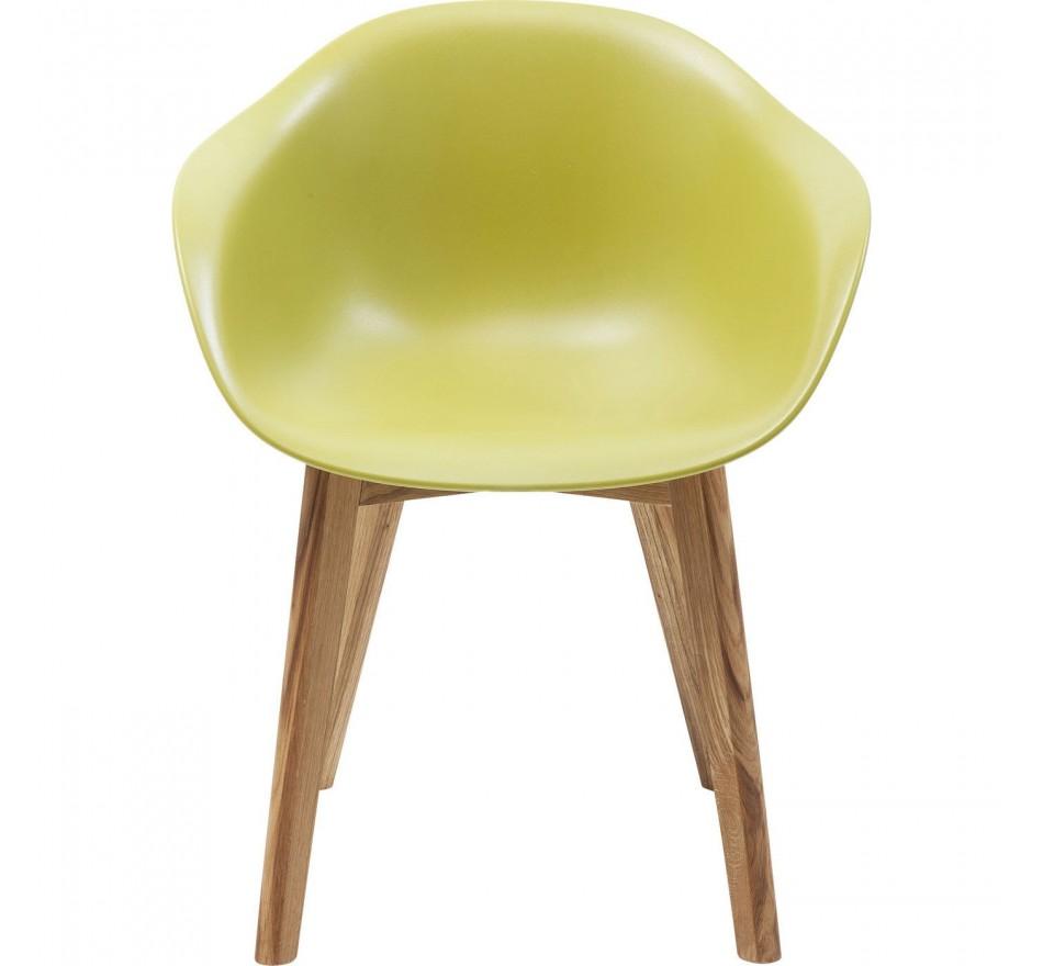Chaise avec accoudoirs Forum Scandi Object vert Kare Design