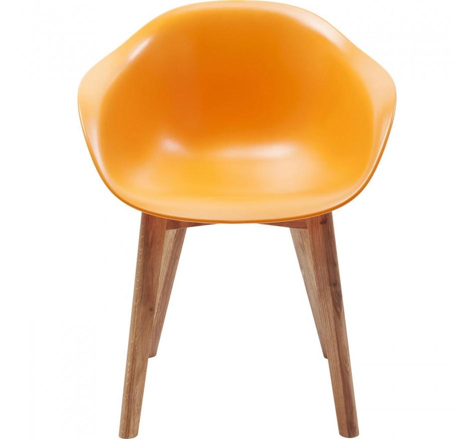 Chaise avec accoudoirs Forum Scandi Object orange Kare Design