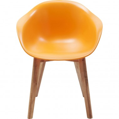 Chaise avec accoudoirs Forum Scandi orange mat Kare Design