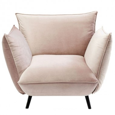 Fauteuil Molly velours taupe Kare Design