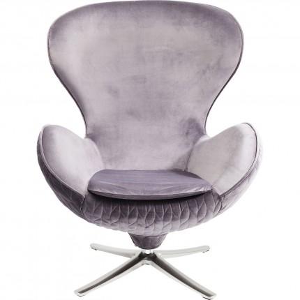 Fauteuil pivotant Lounge Leaf gris Kare Design