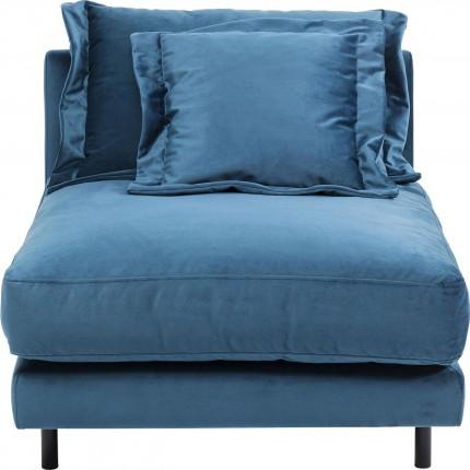 Assise Lullaby velours bleu pétrole Kare Design