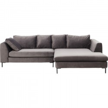 Canapé d'angle Gianna droite gris Kare Design