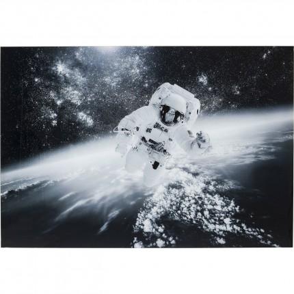 Tableau en verre astronaute espace 100x150cm Kare Design
