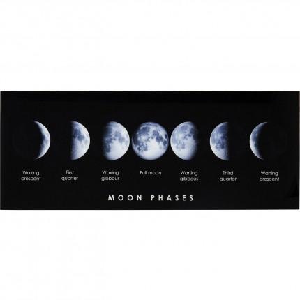 Tableau en verre cycle lunaire 70x180cm Kare Design