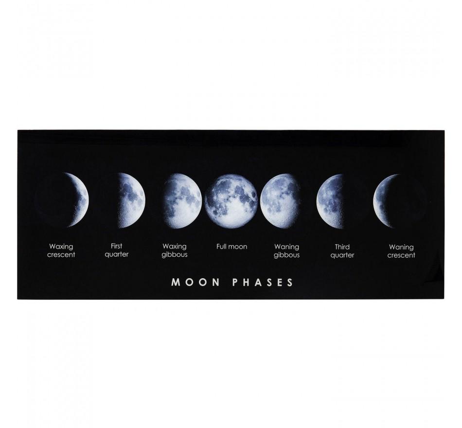 Tableau en verre Moon Phase 70x180cm Kare Design