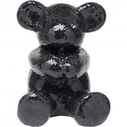 Déco ours mosaïque noir 58cm Kare Design