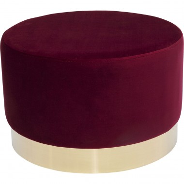Tabouret Cherry Eclipse bordeaux et laiton Kare Design