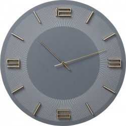 Horloge murale Leonardo grise et dorée Kare Design