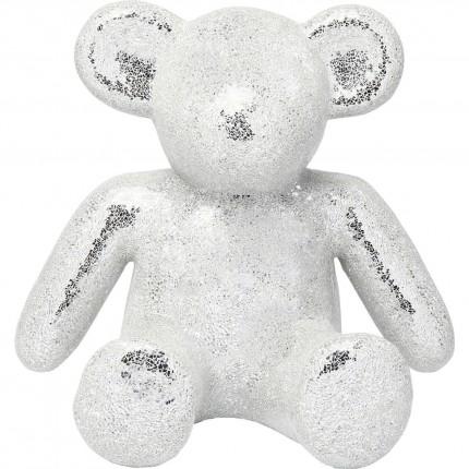 Déco ours mosaïque blanc 60cm Kare Design