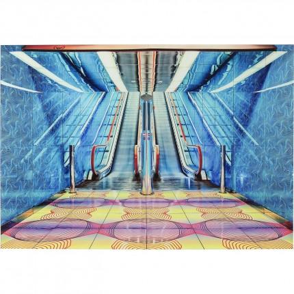 Tableau en verre Escalator Show 80x120cm Kare Design