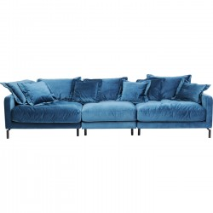 Canapé Lullaby XL velours bleu pétrole Kare Design