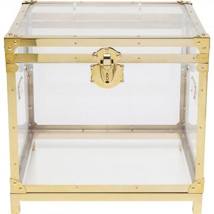 Table d'appoint coffre Gala dorée Kare Design