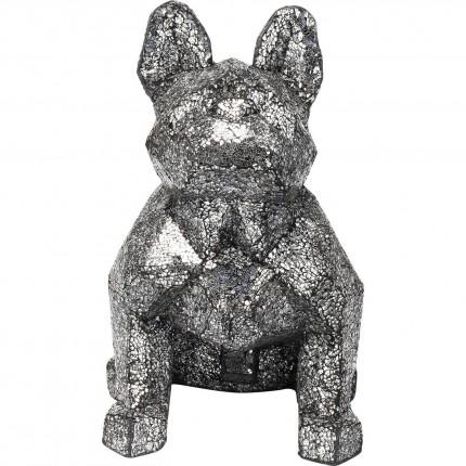 Déco chien mosaïque 56cm argent Kare Design
