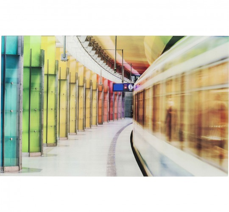 Tableau en verre Platform Light Show 80x120cm Kare Design