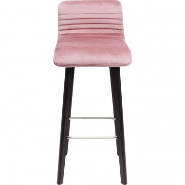 Tabouret de bar Lara velours rose Kare Design