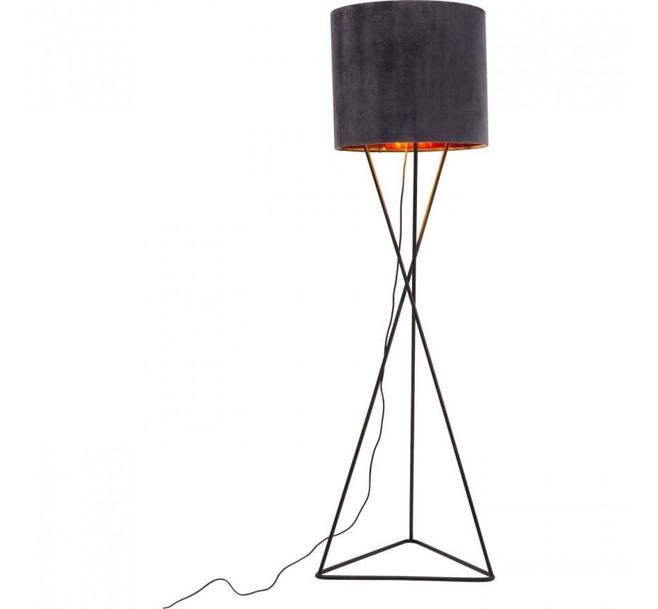 Lampadaire Triangle velours gris Kare Design