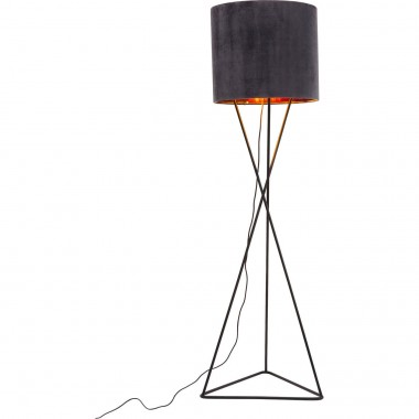 Lampadaire Triangle velours gris Kare Design