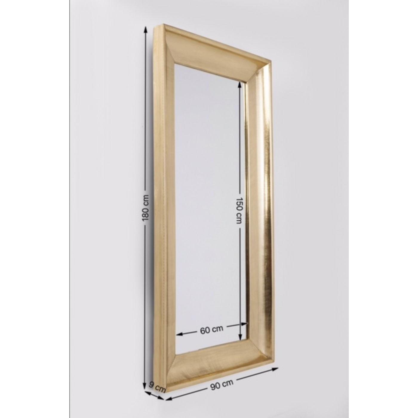 Miroir Crudo rectangulaire 180x90cm Kare Design