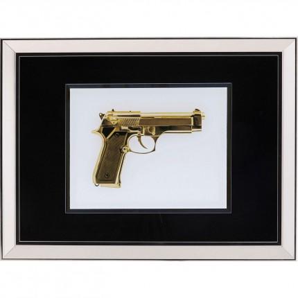 Tableau Frame pistolet doré 80x60cm Kare Design