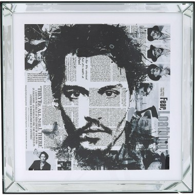Tableau Frame Mirror Johnny Depp 60x60cm Kare Design