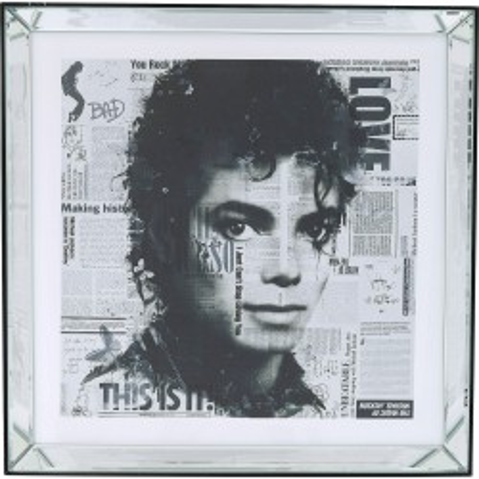 Tableau Frame Mirror Michael Jackson 60x60cm Kare Design