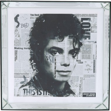 Tableau Frame Mirror Michael Jackson 60x60cm Kare Design