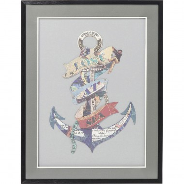 Tableau Frame Art Anchor 80x60cm Kare Design