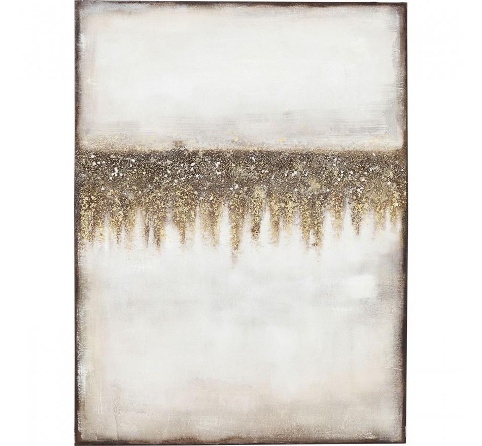 Peinture à l'huile Abstract Fields 120x90cm Kare Design