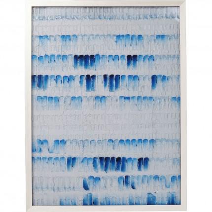 Peinture à l'huile Strike bleue 125x95cm Kare Design