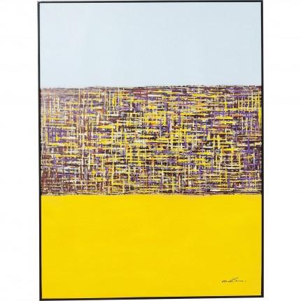 Tableau Touched Meander jaune 122x92cm Kare Design