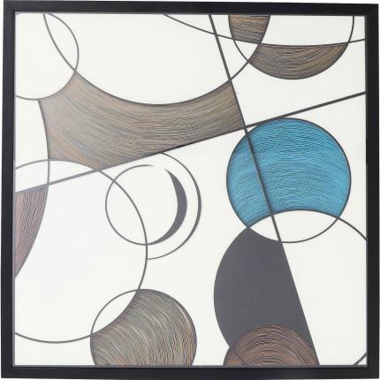 Tableau géométrie ronds 90x90cm Kare Design