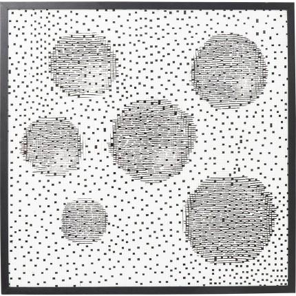 Tableau 3D planètes 100x100cm Kare Design