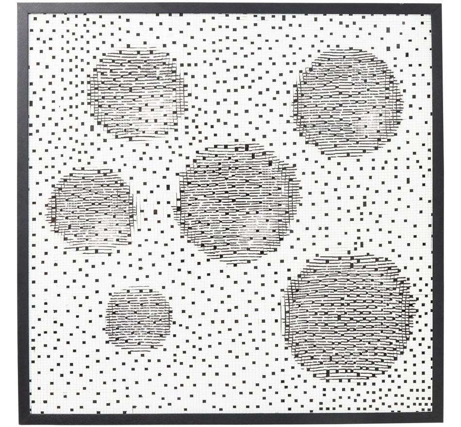 Tableau Wall Art Planetary 100x100cm Kare Design