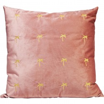 Coussin Palmiers rose 45x45cm Kare Design