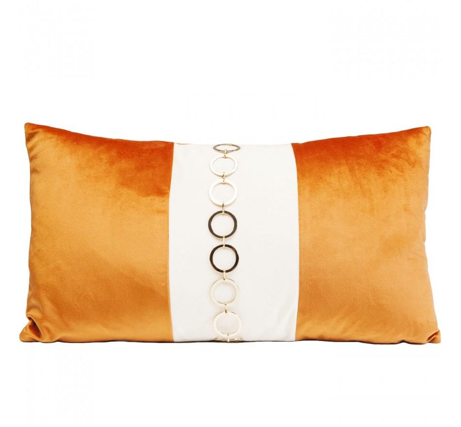 Coussin orange Classy Rings 28x50cm Kare Design