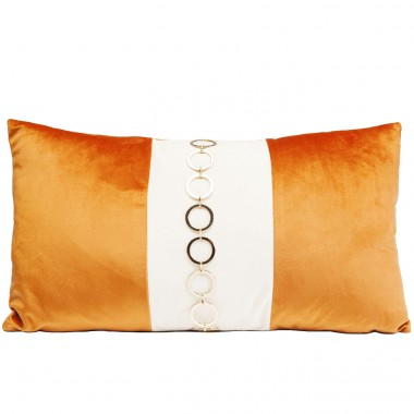 Coussin orange Classy Rings 28x50cm Kare Design