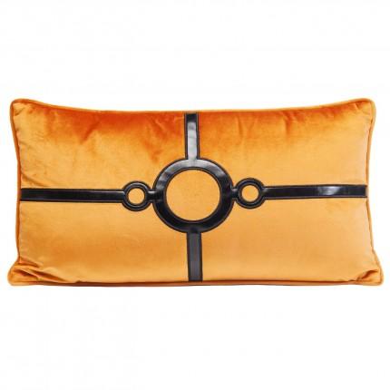 Coussin orange Classy Circles 28x50cm Kare Design